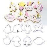 Molde de galletas de plástico unicornio Molde de azúcar para hornear Fondant Cake Decorating Tool para Navidad 8pcs / Set