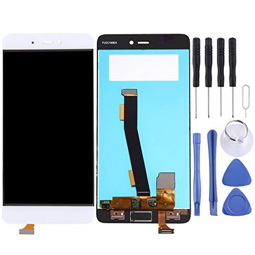 WWL Ersatzteile Für Xiaomi Mi 5s-LCD-Bildschirm und Digitizer Vollversammlung, Keine Fingerabdruck-Identifikation (Schwarz) (Farbe : Weiß)