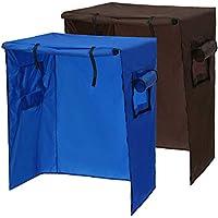 Dyda6 - Funda para jaula de pájaros (97 x 60 x 130 cm, con cremallera, antiUV, impermeable y transpirable), azul, Tamaño libre