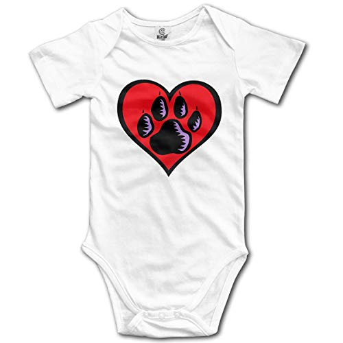 Abba Öl (Klotr Unisex Baby Body Kurzarm Love PAW Newborn Bodysuits Baumwolle Strampler Outfit Set)