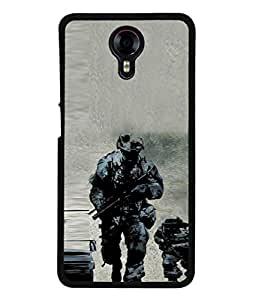 Fuson Designer Back Case Cover for Micromax Canvas Xpress 2 E313 (Awesome Patriotic Pride India Salute Jawans Military)