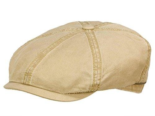 Casquette Brooklin Cotton Stetson casquette forme arrondie Beige