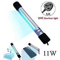 Gluckluz UV Disinfection Lamp, Portable Handheld UV Sterilizer Light Tube Ultraviolet Ray Lights for Shoes Rack Kitchen Mask Golves Toy Pillow House Travel Use (11W)