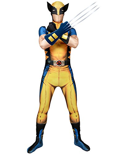 Marvel Wolverine Digital Morphsuit Lizenz Ware Giallo Blu Nero