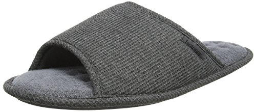 Isotoner Mens Waffle Open Toe Slipper, Chaussons Bas Homme