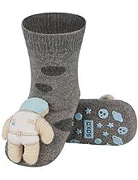 ASTRO - Chaussettes d'éveil bébé avec hochet 3D antidérapantes BBKDOM