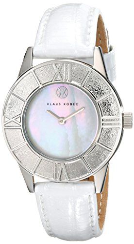 Klaus Kobec Women's KK-10018-01 Agnes Analog Display Japanese Quartz White Watch