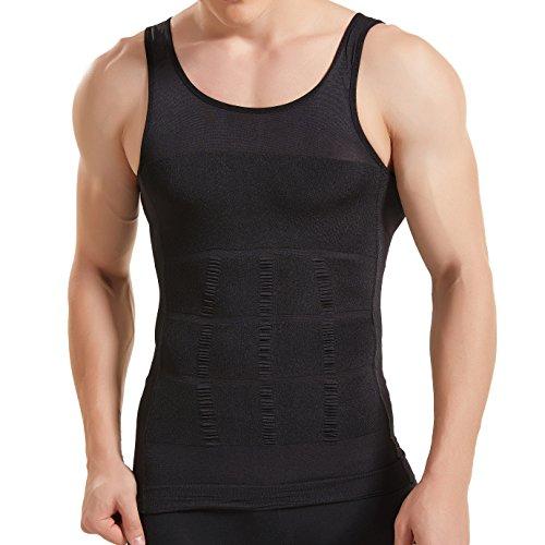 HANERDUN Kompressionsunterwäsche I Herren Tanktop I figurformendes Unterhemd für Männer I Sport Fitness I T-Shirt Bodyshaper Bauchweg (Auf Bewegen Sich Sie T-shirt)