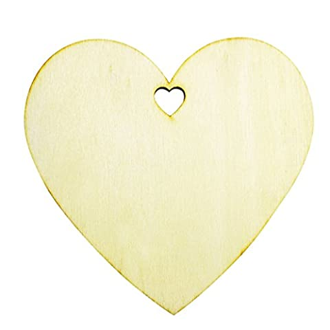 25 Plain Wooden Heart Shape Craft Tags Plaques Decorative 100mm by Kurtzy TM