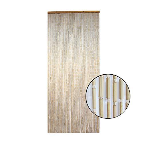 Cortina para Puerta de Madera de Bambu Natural