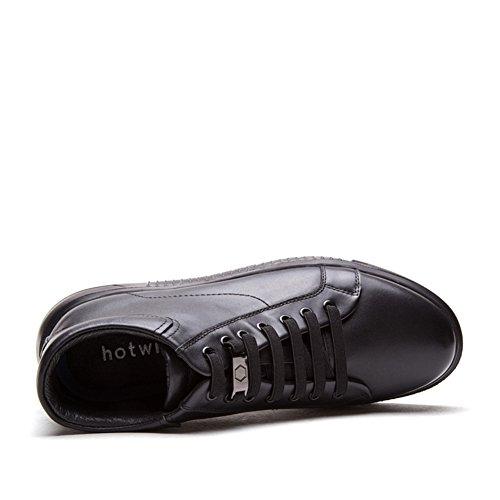 Hombres Con Los Zapatos Junta De Ayuda Alta, Zapatos Planos Redondos A