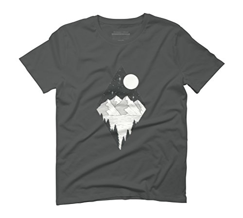 Triangle Mountain Men's Graphic T-Shirt - Design By Humans Anthracite