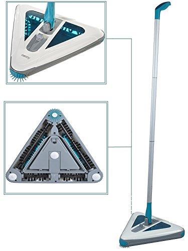 Wiederaufladbare Elektrische Kehrmaschine (Akku Sweeper | Akkubesen Staubsauger | Kehrbesen | Kabellos | Beutellos | Kehrmaschine)