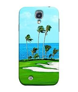 Fuson Designer Back Case Cover for Samsung Galaxy S4 Mini I9195I :: Samsung I9190 Galaxy S4 Mini :: Samsung I9190 Galaxy S Iv Mini :: Samsung I9190 Galaxy S4 Mini Duos :: Samsung Galaxy S4 Mini Plus (Sea Water Palm Golf Breeze Tree)