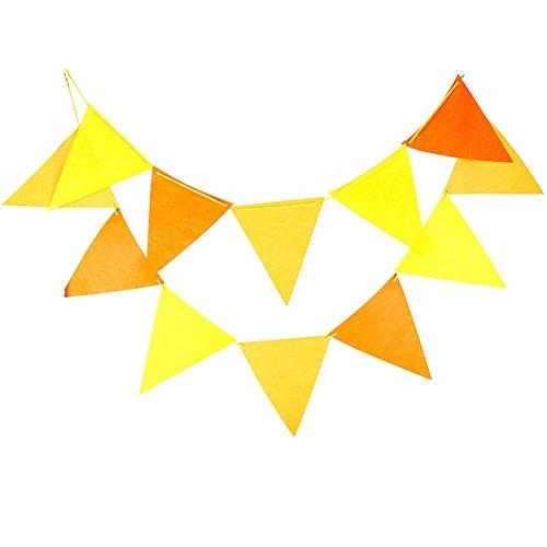 Wicemoon Non-Woven dreieckige Flagge Partei Layout String Flag (3M, 12PCS als 1 Set)