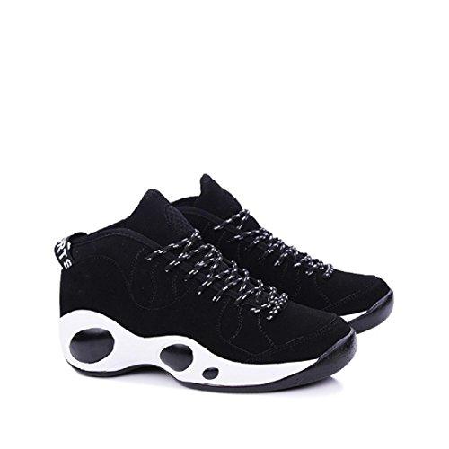 Hommes Chaussures de sport Entraînement Respirant Antidérapant imperméable Chaussure de basket-ball Baskets Black