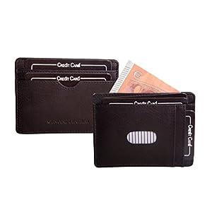 ANDERS Extra flaches Kreditkartenetui Ausweisetui Ausweishülle Kreditkartenetui aus hochwertigem Leder. (Schwarz)
