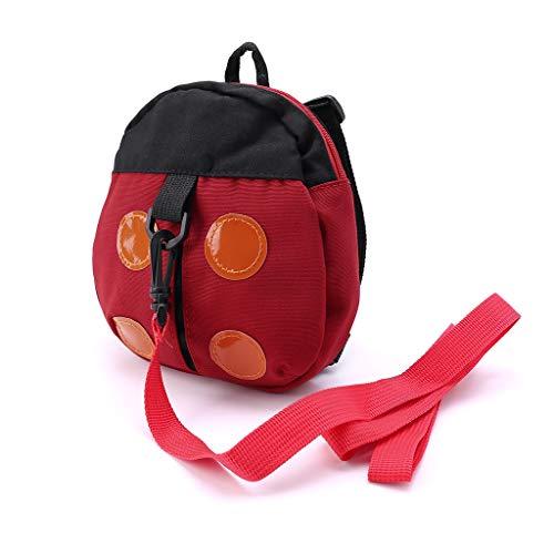Kinder Baby Sicherheitsgeschirr Rucksack Leine Kinder Kleinkind Anti-Verlust-Cartoon Tier Tasche rot -
