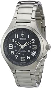 Victorinox Women's Analogue Watch with Gray Dial Analogue Display and Stainless steel plated gun metal - 241471