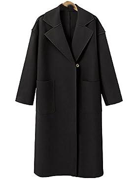 Chaqueta Punto Mujer, AIMEE7 Chaqueta de lana de cachemira suelta de gran tamaño de las mujeres Abrigo largo de...