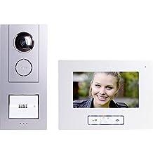 Video-Türsprechanlage Kabelgebunden Komplett-Set m-e modern-electronics Vistus VD 6710 1 Familienha