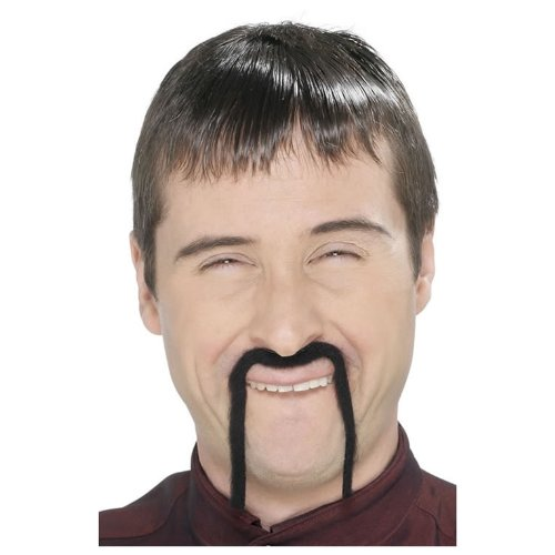 Chinabart asiatischer Herrenbart Asien schwarzer Bart schwarz für Herren asiatisch China (Kostüme In China)