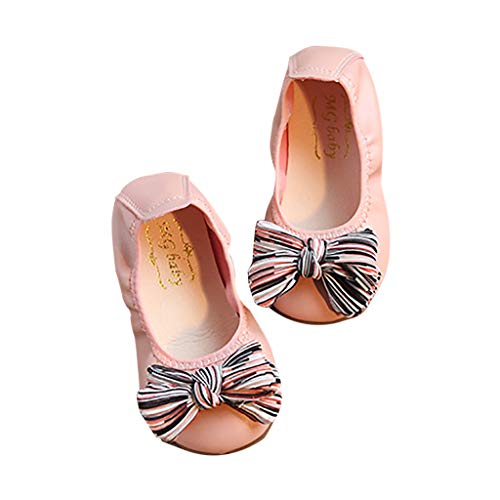 Jaysis Bow-Knot Ornament Schuhe, Baby Mädchen Prinzessin Modisch Schuhe Kind Elegant Weich Freizeit Tanzschuhe Lederschuhe Kleinkind Bequem Süß Schuhe Rutschfester Sohle Babyschuhe -