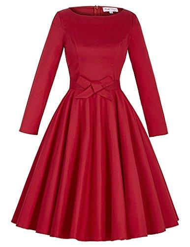 Belle Poque Vestito Da Donna Elegante Con Maniche Lunghe Vestito Da Donna Elegante BP192-3