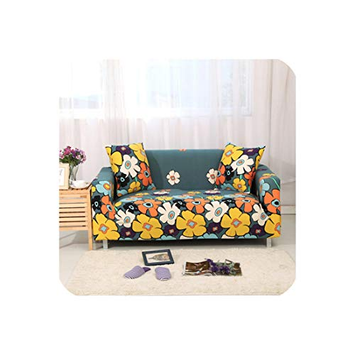 Love every day 1PC Elastic Printed Sofabezüge Stretch Universal-Sectional Couch-Ecken-Abdeckung Cases Werfen für Möbel Sessel Dekor, Farbe 20,2-Seater 145-185cm -