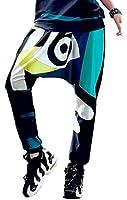 ELLAZHU Women Fashion Hippie Harem Abstract Print Pants Trousers Onesize GK225