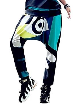 ELLAZHU mujeres Harem Abstract pantalones impresos de un tamaño GK225