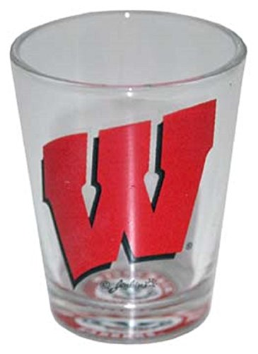 Wisconsin Badgers Shot Glas mit Team Logo unten - Logo Unten