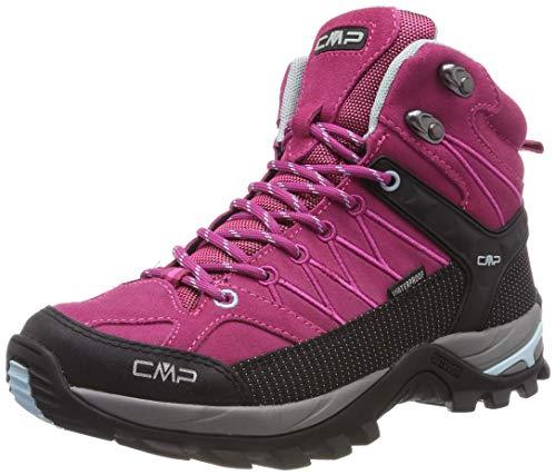 CMP Rigel Mid, Zapatos de High Rise Senderismo para Mujer, Rosa Karkadé-Anice 15hc, 36 EU