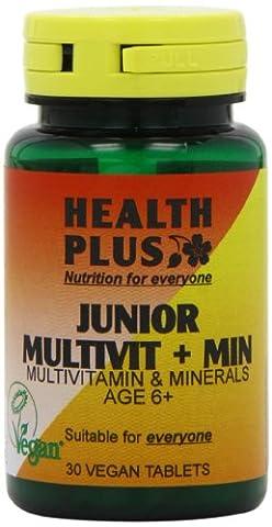Health Plus Junior Multivit + Min One-a-Day Children's Multivitamin Supplement - 2 x 30 Tablets (60