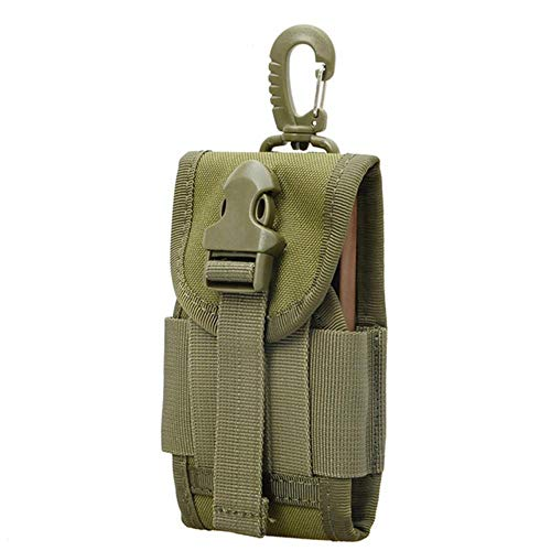 JUNbao-LINyiming-01 Airsoftpeak 11,4 cm Nylon Handy Tasche Durable Hook Cover Case Tactical Bag Attachable Molle Belt Handy Pouch Universal Od