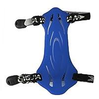 1pc goma tiro al arco brazo guardia protección con 2correas azul