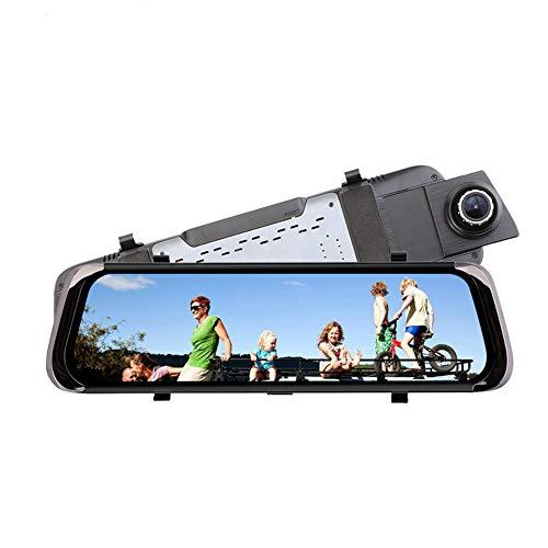 """Doblelente del vehículo DashCam, 1080P HD Video 10 \""""pantalla táctil construir-en G-sensor 170 ° gran angular grabación 24 horas monitor de estacionamiento detección de movimiento con visión nocturna"""