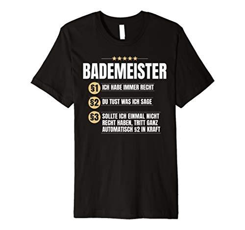 Bademeister Geschenk Lustiges Schwimmbad Schwimmer Shirt