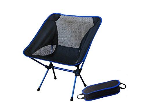 u5fun tragbar Ultralight Stuhl KOMPAKT Klappstühle mit Tragetasche ideal für Camping/Rucksackreisen/Outdoor Meetings, dunkelblau
