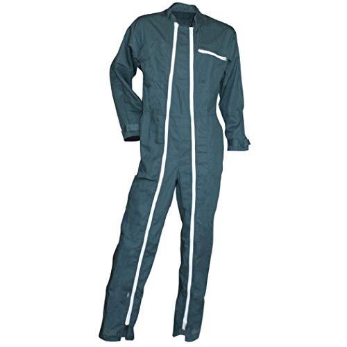 Homme - Combinaison de travail, 2 zips, (Taille -6, vert / Green)