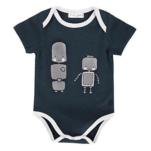 Unisex Neugeborene Kleidung Lustiges Onesie 0 3 6 9 Monate Sommer Mädchen Strampler Overall Säugling Jungen (0-6 Monate, R16) (Halloween-kostüme Für 19 Monate Alten Jungen)