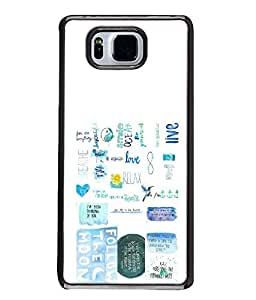FUSON Designer Back Case Cover for Samsung Galaxy Alpha :: Samsung Galaxy Alpha S801 :: Samsung Galaxy Alpha G850F G850T G850M G850Fq G850Y G850A G850W G8508S :: Samsung Galaxy Alfa (Green Background Quote Love Heart Messages Crazy Express Sorry )