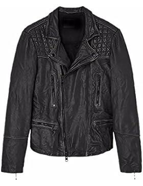 Leatherly Chaqueta de hombre Cargo Genuine chaqueta de cuero