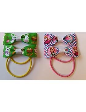 Colourful Pasqua e Frozen Hair Accessory Hair Bows set/confezione Set regalo