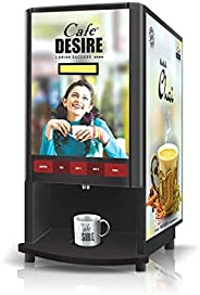 Cafe DESIRE I DRINK SUCCESS Coffee Machine 2 Lane | Fully Automatic Tea & Coffee Vending Machine | For Off