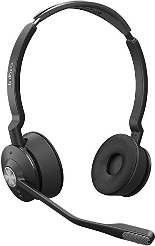 Jabra Engage 75 Stereo Wireless-Profi-Headset mit DECT/Bluetooth  für 5 Endgeräte, mit Ladeschale, Skype for Business Open Office zertifiziert (Akustik-wireless-lautsprecher)