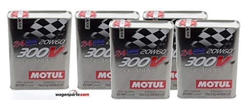 Motul Olio Motore Competizione 300V Le Mans Racing Motor 20W-60, Pack 10 Lit