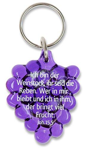 °° Schlüsselanhänger Weintraube aus Acryl 5cm,