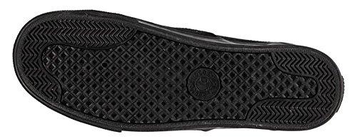 Coucher de soleil pour homme à lacets Chaussures Dentelle Toile Style Patineuse classique noir/noir