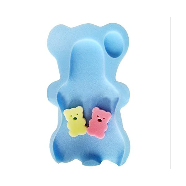 Luerme Baby Bath Support Newborn Bath Seat Bear Shape Sponge Mat